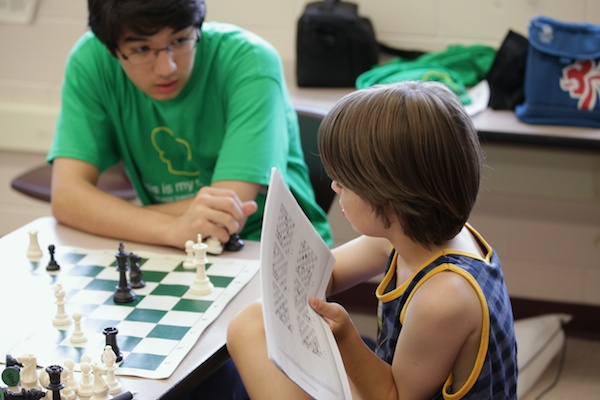 One-on-one chess instruction.